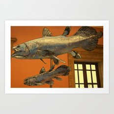 The Flying Museum Fish Art Print