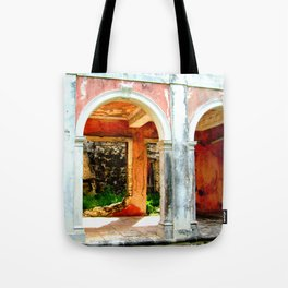 Haunted Harbour Island House Tote Bag