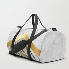 Arrows - White Marble, Gold & Blue Marble #610 Duffle Bag