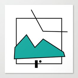 ABSTRACT MOUNTAIN LINES Canvas Print