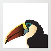 toucan Canvas Prints featuring Toucan by Frida Strömshed