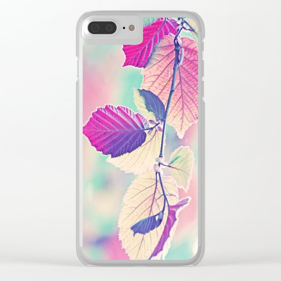 New & Fresh Hazelnut Leaves Clear iPhone Case