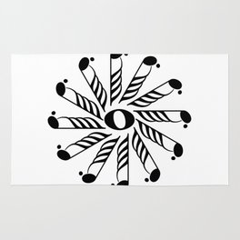 Music note mandala 3 Rug