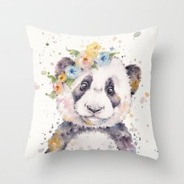 Little Panda Throw Pillow