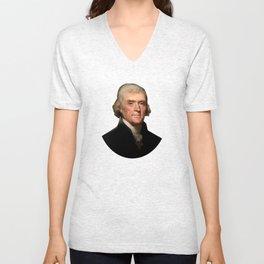 President Thomas Jefferson Unisex V-Neck
