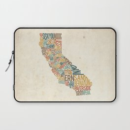 California by County Laptop Sleeve