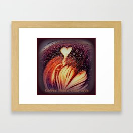 Coffee made with Love Framed Art Print