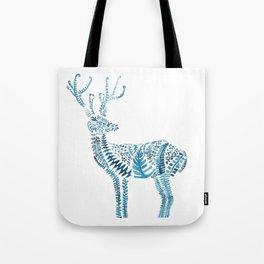 green deer watercolor Tote Bag
