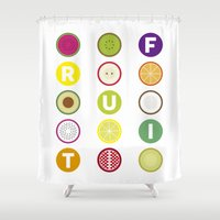 fruit Shower Curtains featuring Fruit by veronica's site