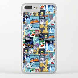 Tomorrowland Vintage Attraction Posters Clear iPhone Case