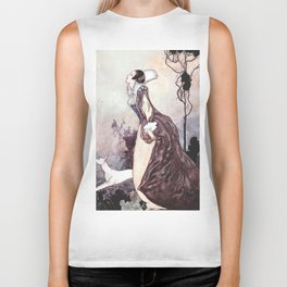 """""""Some Glory In Their Birth"""" Fairy Art by Charles Robinson Biker Tank"""