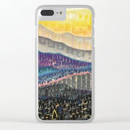 Orange Sunrise Clear iPhone Case