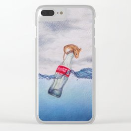 Red, White & Blue by Lars Furtwaengler   Colored Pencil   2017 Clear iPhone Case