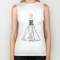 fashion illustration Biker Tanks featuring Fashion Illustration by VAWART