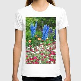 Blue Delphiniums Summer Flowers T-shirt