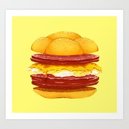 Pork Roll, Egg, & Cheese Art Print
