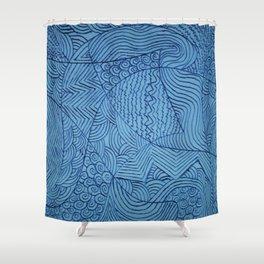 Blue Rough Start Shower Curtain