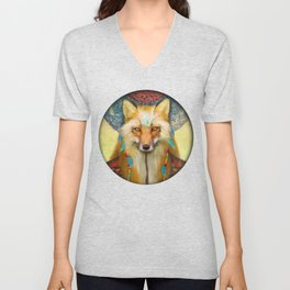 Wise Fox Unisex V-Neck