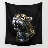 jaguar Wall Tapestries featuring  Jaguar  by OnlineGifts