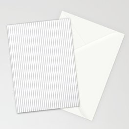 Gray ticking stripes Stationery Cards