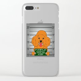 Brown Poodle Caught Stealing Food T-shirt Perfect Gift For Dog Breed Poodle Lover T-shirt Design Clear iPhone Case