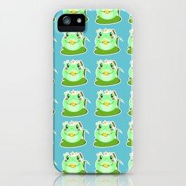 kawaii frog iPhone Case