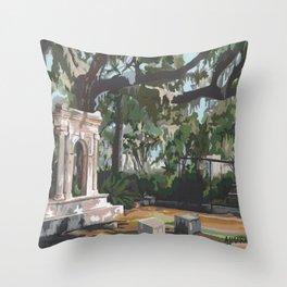 Bonaventure Cemetery Throw Pillow