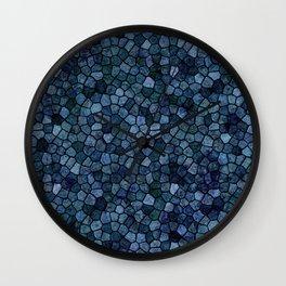 Blue Lagoon Midnight Rippled Water Abstract Wall Clock