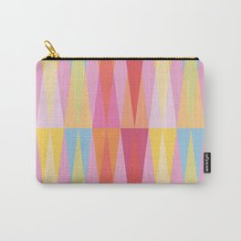 Party Argyle on Pink Carry-All Pouch