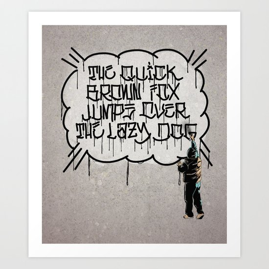 Foxes and Dogs Art Print