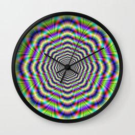 Psychedelic Octagon Pulse Wall Clock