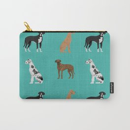 Great Danes mixed coats dog breed must have pure breed lovers Carry-All Pouch