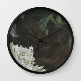 Bear Hugs Wall Clock
