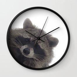 Young Raccoon Wall Clock