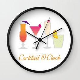 Cocktail Menu Wall Clock