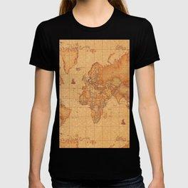 World Map LeaTher T-shirt