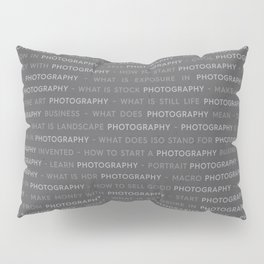 Gray Photography Text Keywords Marketing Concept Pillow Sham