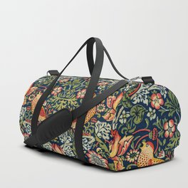 Strawberry Thief by William Morris 1883 Antique Vintage Pattern CC0 Spring Summer Duffle Bag
