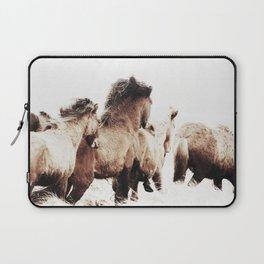 WILD AND FREE 2 - HORSES OF ICELAND Laptop Sleeve