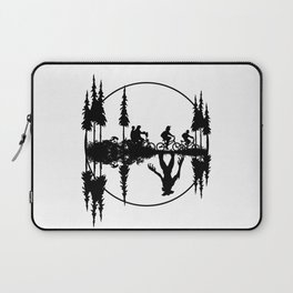 Upside down, Steve and the gang on bicycles, Stranger thing gift Laptop Sleeve