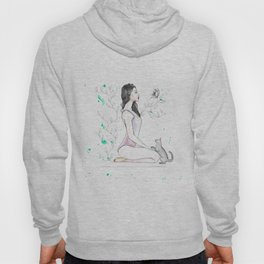 Yoga with her Cat Hoody