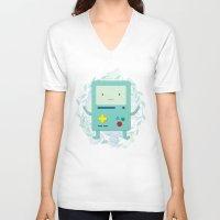 bmo V-neck T-shirts featuring BMO love by fox bear designs