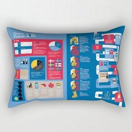 Finland Infographic (English Version) Rectangular Pillow