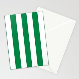 Philippine green -  solid color - white vertical lines pattern Stationery Cards