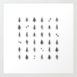Into the Pines Art Print