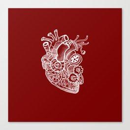 Steam-powered Heart Canvas Print