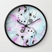 gemini Wall Clocks featuring GEMINI by Heaven7