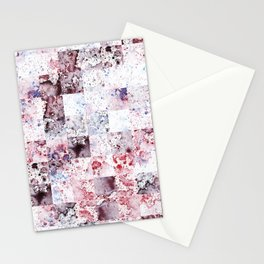 Lavender blush Watercolour Rain Pattern Stationery Cards