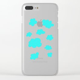 Happy Little Clouds Clear iPhone Case