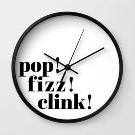 pop! fizz! clink! Wall Clock